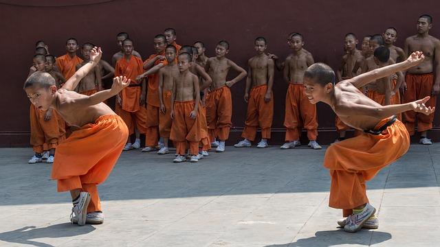 kung fu cvičení